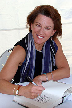 Photo of Jennifer Jordan at book signing